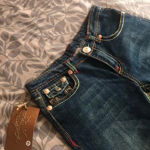 True Religion Jeans - True Religion Crop Jeans, Fun Colorful Stitching